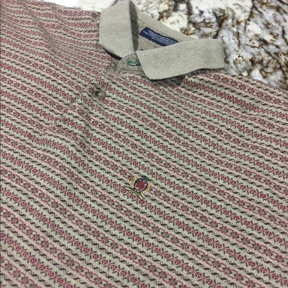 f4c13c3d Tommy Hilfiger Shirts | Burgundytan Polo Large | Poshmark